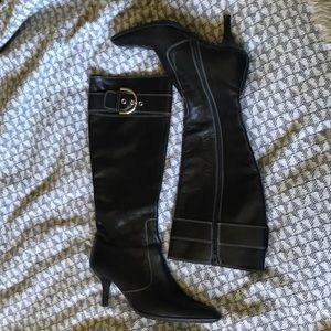 Coach Justine tall heeled boot in EUC
